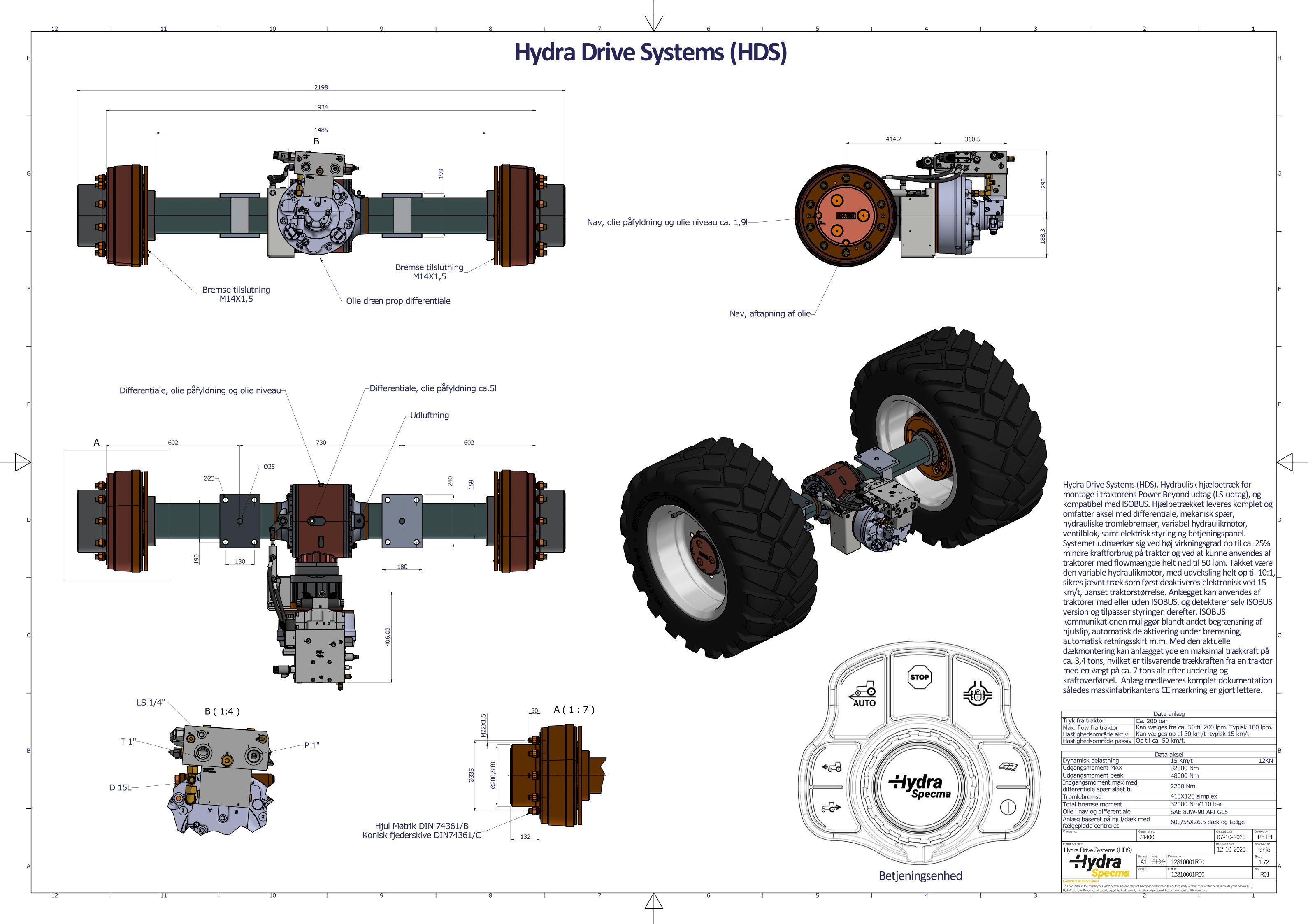 Hydra drive system (HDS) - Komplet hjælpetræk